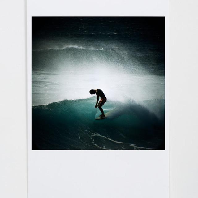 Wax Poster: LeRoy Grannis Midget Farrelly Surfing Shore Break, Makaha