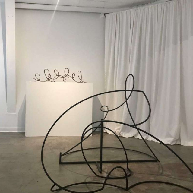 """4 of 4  A view of Tara Conley's show """"Gymnopedie,"""" which is on view through Feb. 3 at Winston Contemporary Art.  Photo: Molly Glentzer / Houston Chronicle"""