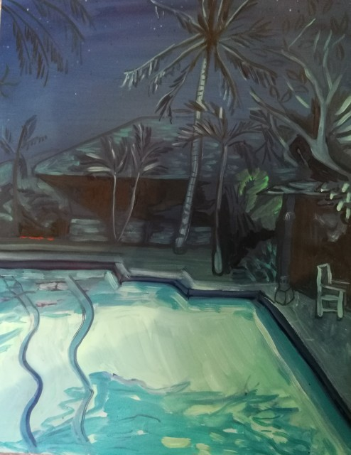 Lucy Smallbone, Night Palm, 2017