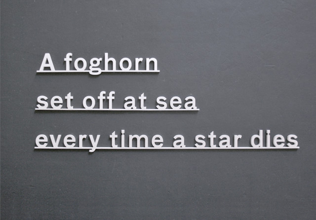 Katie Paterson, Ideas - (A foghorn set off at sea every time a star dies), 2017