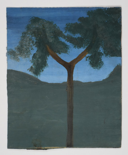 Frank Walter, Forked Tree against a Blue Sky