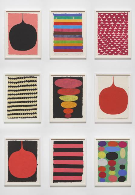 David Austen, Nine gouaches individually titled (Bundanon) 24.3.01 2001, Untitled (31.10.06) 2006,Untitled (4.4.10) 2010, Untitled (12.9.06) 2006, Untitled (20.6.02) 2002, Untitled (11.9.06) 2006, Untitled (1.7.06) 2006, Untitled (28.10.14) 2014, Untitled (4.6.02) 2002, 2001 - 2014