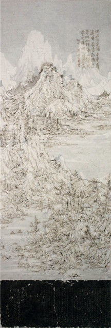 Wang Tiande 王天德, Snow on the Northern Mountains 北山积雪图, 2019