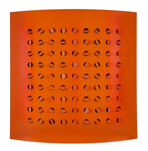 Rashid Al Khalifa, Orange Steel Cut, 2015