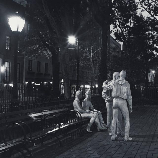"Robert Giard, Sheridan Square, George Segal Sculptures, NYC, ""Gay Liberation"""