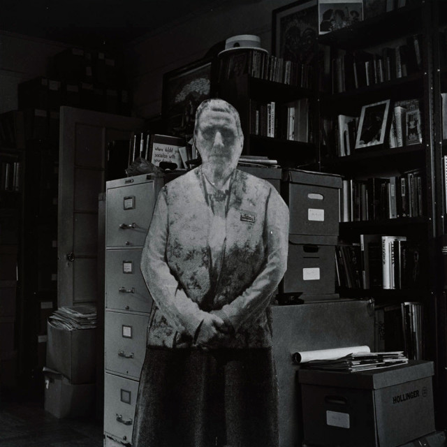 Robert Giard, Gertrude Stein Visits the Lesbian Herstory Archive, 1988