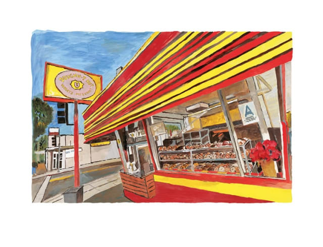Bob Dylan, Donut Shop, 2016