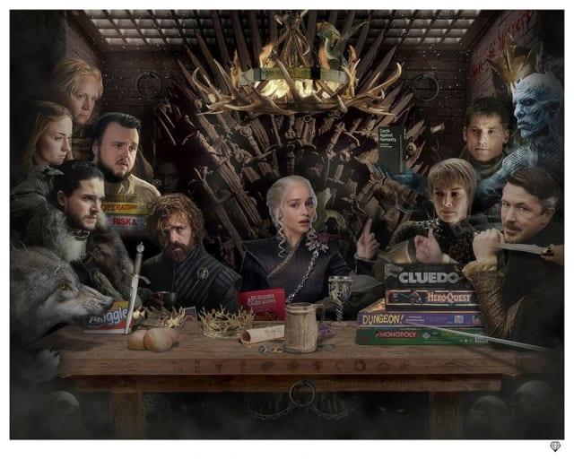 JJ Adams, Board-Game of Thrones - Black & White
