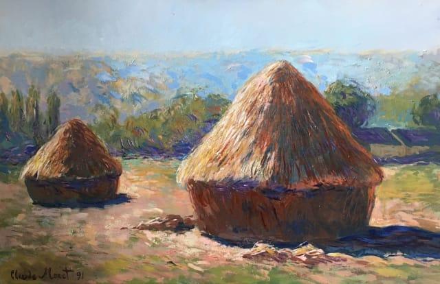John Myatt, Haystacks (summer) - Original