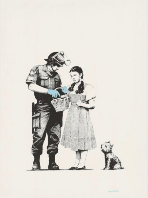 Banksy, Stop and Search, 2007