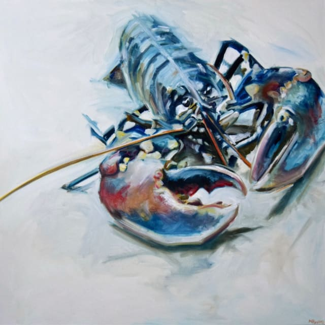 Michelle Parsons, Square Lobster White Background, 2020