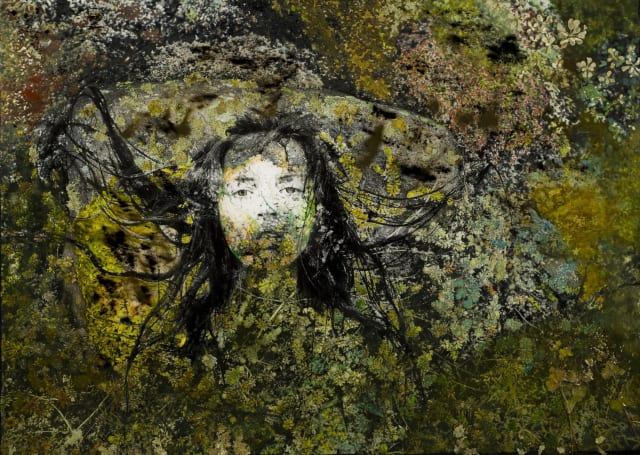 Raphael Mazzucco; Face to Face; 2012; Archival print, acrylic paint, mixed media and resin; 59 x 82 inches (149.9 x 208.3 cm)