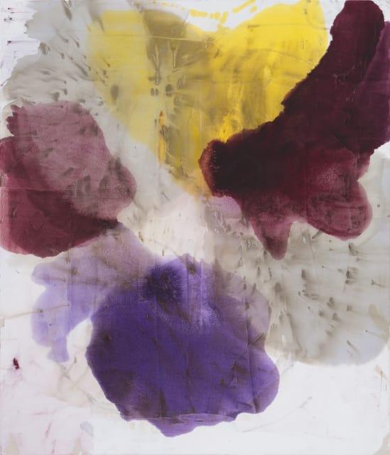 DIRK DE BRUYCKER; Pentas; 2014; Asphalt, cobalt drier, gesso and oil on cotton duck canvas, 84 x 72 inches (213.4 x 182.9 cm)