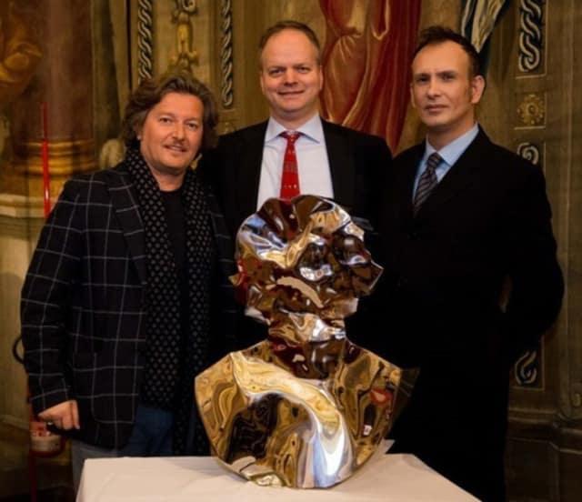Helidon Xhixha, Elke Schmidt and Dr. Diego Giolitti