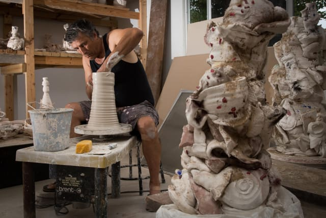 Jeff Whyman in his studio