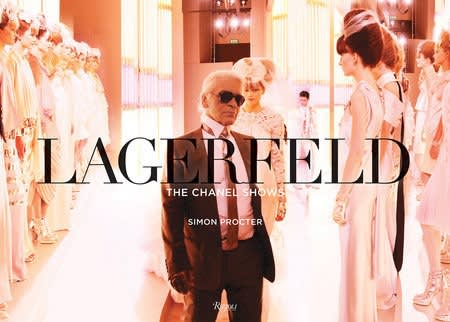 "Cover of Simon Procter's ""Lagerfeld: The Chanel Shows"" book"