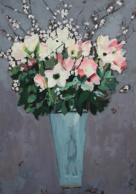 Charlotte Hardy, 'Amaryllis', acrylic on canvas, H 100 x 60 cm