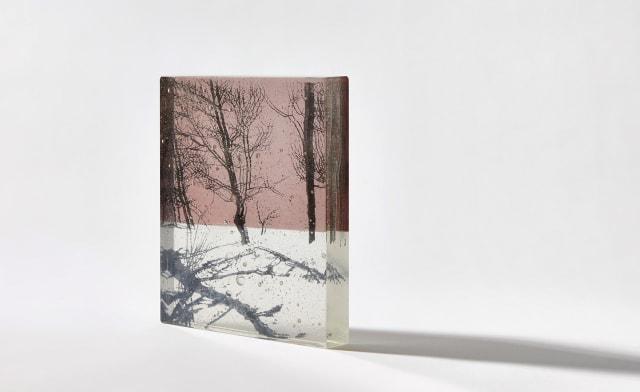 Helen Slater, 'Snow Shadows - Dusk Pink', Studio cast glass