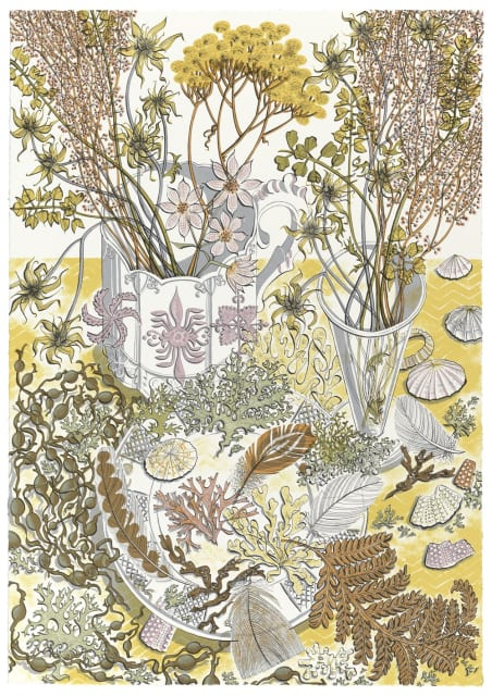 Angie Lewin, Nature Study Late Summer, 2015