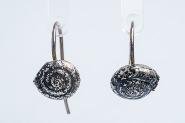 Lucy Jade Sylvester, Snail Hook Earrings