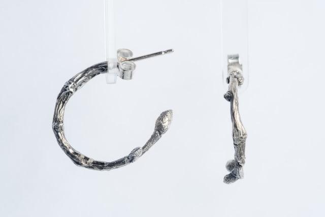 Lucy Jade Sylvester, Twig Hoop Earrings