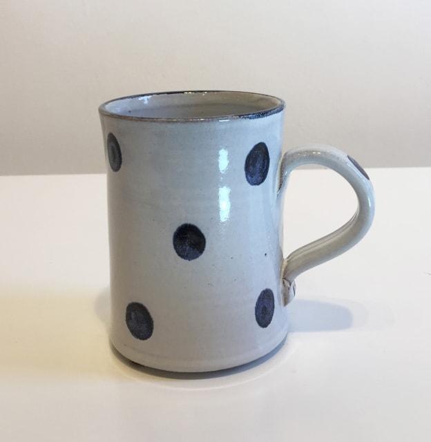 Tydd Pottery, Blue Spots On White, Mug