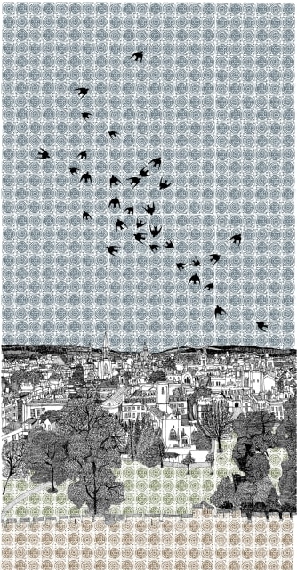 Clare Halifax , Swallows Flocking to Oxford