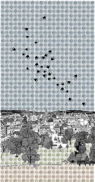 Swallows Flocking to Oxford