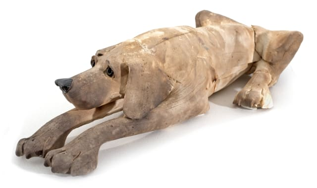 Extra Large Light Brown Dog, Laying Down