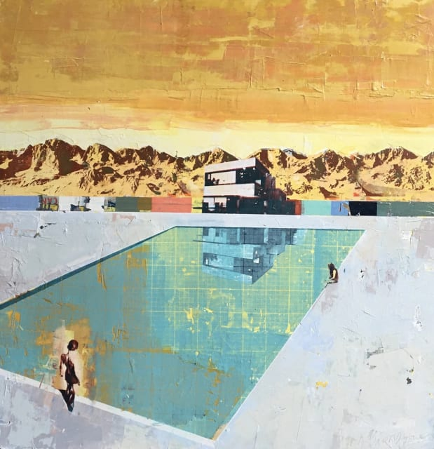 Dan Parry-Jones, Lido With Mountain , 2020