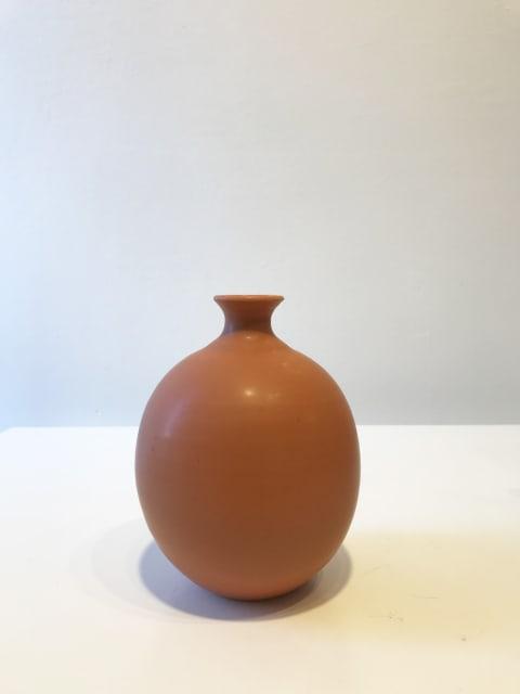 Warm Orange Oval Vessel, Small