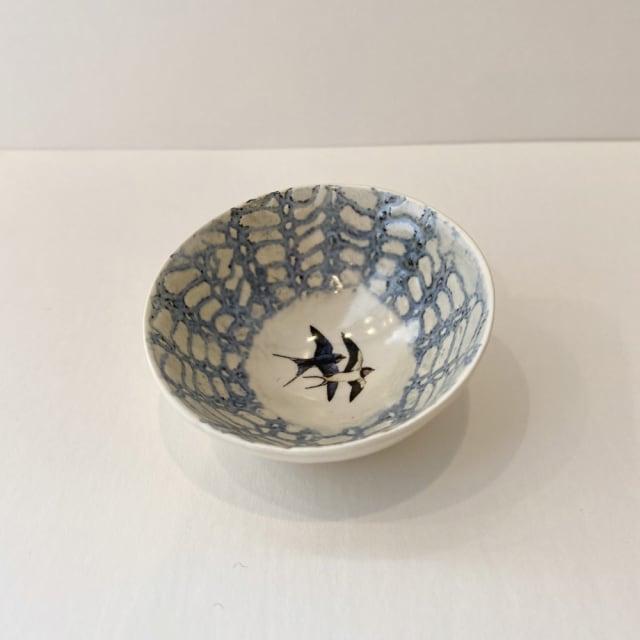 Fliff Carr, Swallows Blue Treasure Bowl, 2019