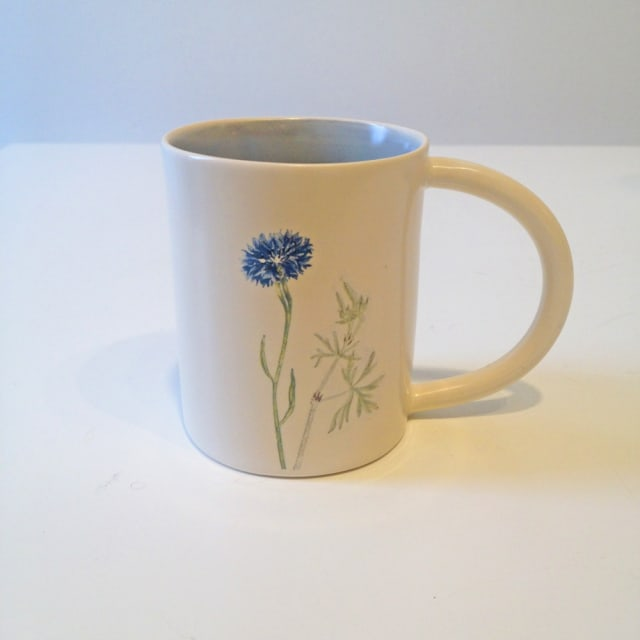 Single Cornflower, Espresso Cup
