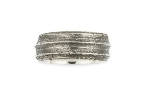 Wide Cow Parsley Band, Ring, Silver