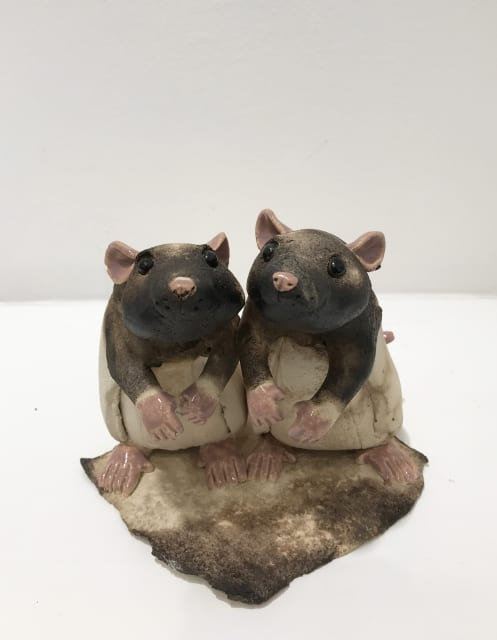 Virginia Dowe Edwards, Two Rats (Side by side)