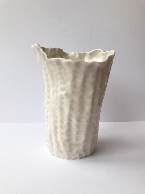 Emma Jagare, Medium Pink Pushed and Pulled Vase, 2019