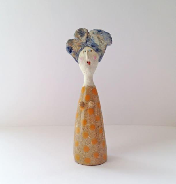 Jane Muir, Little Lady - Orange Spots, 2019