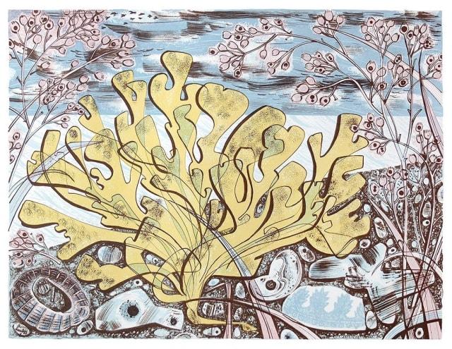 Angie Lewin, Stormy Beach II