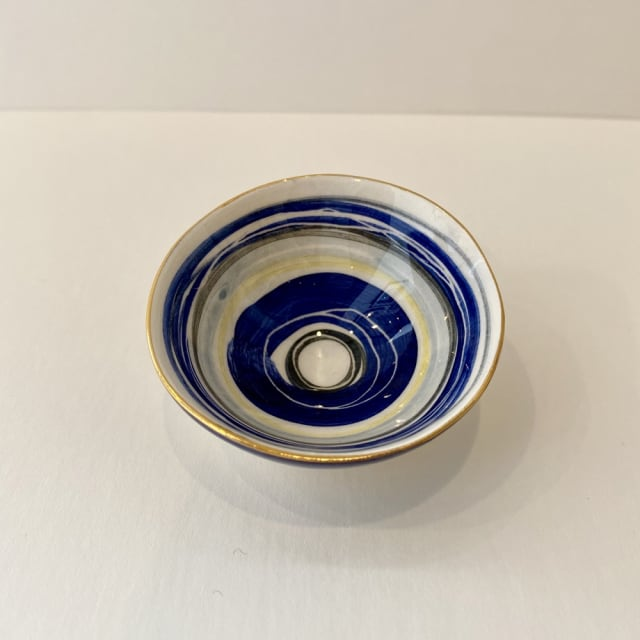 Fliff Carr, Blue Stripes Treasure Bowl, 2019