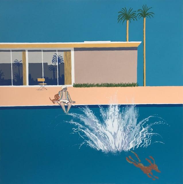 Mychael Barratt, Hockney's Dog - An Even Bigger Splash