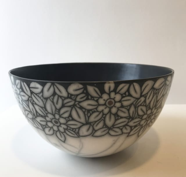 Debbie Barber, Flowers, Large Bowl
