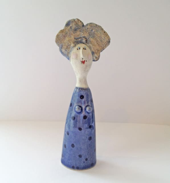 Jane Muir, Little Lady - Blue with Navy Spots, 2019
