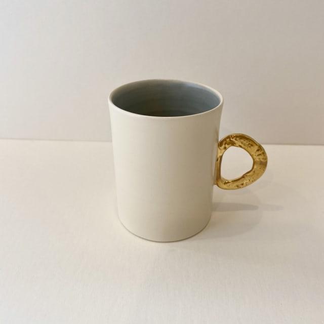 Fliff Carr, Espresso Gold Handle Blue Interior , 2019