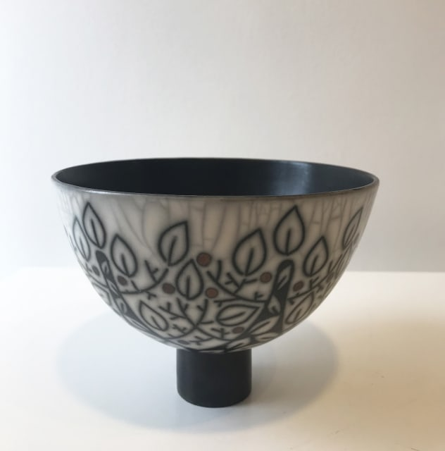 Debbie Barber, Branches, Medium Footed Bowl