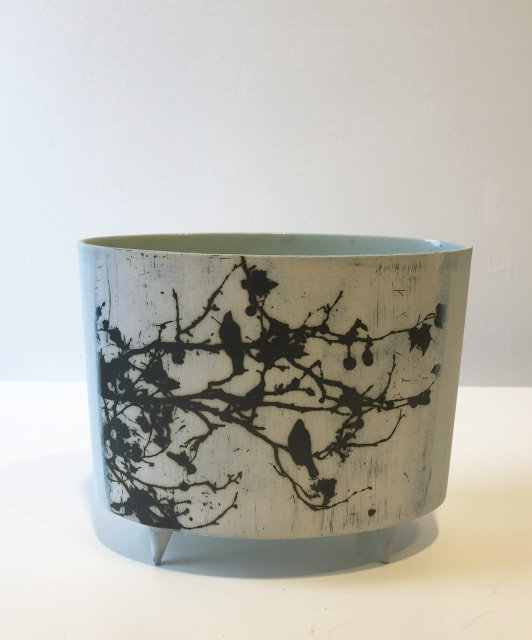Birds In Trees, oval vessel