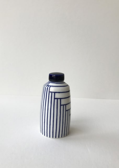 Rhian Malin, Layered Lines Straight Sided Ginger Jar, Small