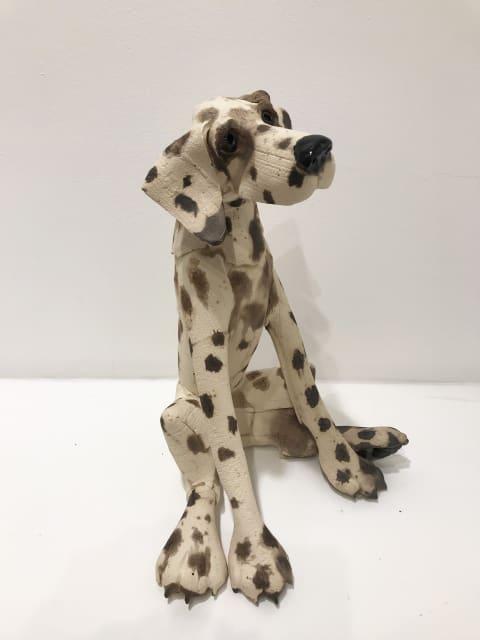Virginia Dowe Edwards, Large Spotty Dog, Seated, 2019