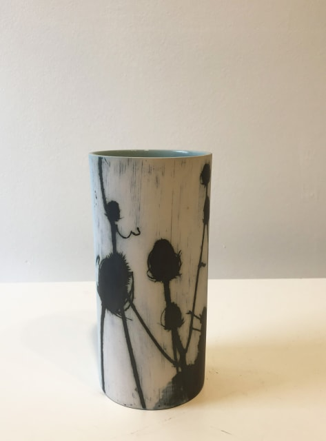 Teasels, medium tall vase