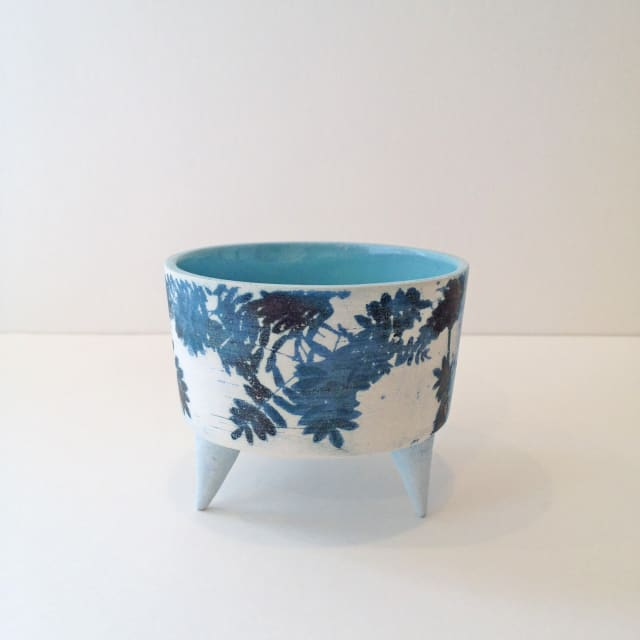Kit Anderson, Sky Leaves Small Vessel with Feet, 2019
