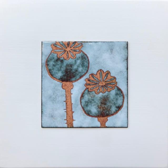 Janine Partington, Poppy Seedheads, Small panel